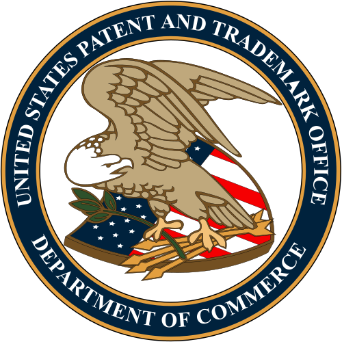 The seal          of the United States Patent and Trademark Office.